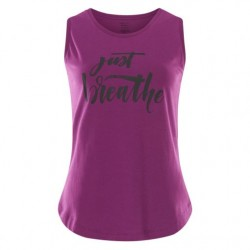Yoga Tank Top Just Breathe – (Rock Crystal)